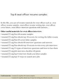 Compliance Officer Cover Letter Top8swatofficerresumesamples 150618094201 Lva1 App6892 Thumbnail 4 Jpg Cb U003d1434620563