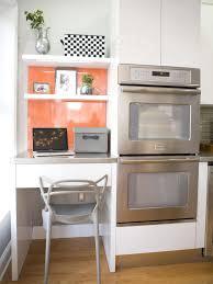 kitchen cousins hgtv contemporary kitchen office nook with orange wall