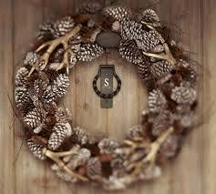 faux antler wreath pottery barn