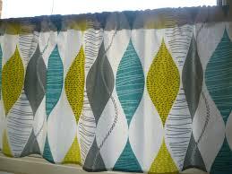 54 x 60 teal curtain panel valance cafe curtain