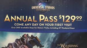 Discount Season Pass Six Flags Buy A Season Pass To Universal Studios Hollywood For Only A Few