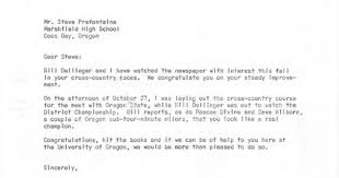 cross country express steve prefontaine recruitment letter from