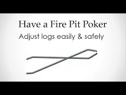 Fire Pit Poker by 40 Bear Claw Log Grabber Youtube
