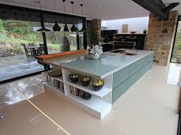 glass kitchen island matt glass kitchens from lwk kitchens