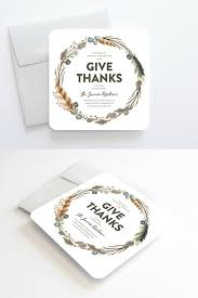thanksgiving dinner invitations modern rustic unique