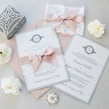 lace invitations suzanne lace wedding invitation white and silver shimmer card
