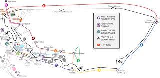 map of le mans spectators access aco automobile club de l ouest