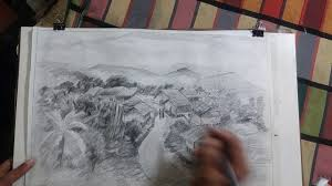 how to draw beautiful scenery of landscape pencil sketch with 2b