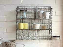 Wall Mount Wire Shelving by Wire Wall Shelf Shop Geometric Metal Wire Wall Shelf Natural