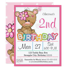 teddy bear birthday party invitations u0026 announcements zazzle co uk