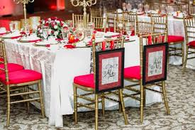 Red And Gold Reception Decoration Lake Mary Events Center Chelsea And Nathan U0027s Red And Gold Wedding
