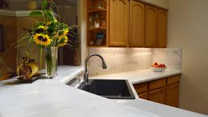stone backsplash in kitchen how to quick install a custom faux stone backsplash counter top