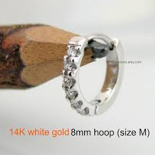 8mm diamond 8mm diamond cartilage hoop earrings for men ear hoop