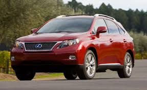 lexus rx red 2010 lexus rx350 rx450h hybrid first drive review reviews