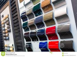 car paint samples stock image image of black golden 30375255