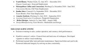 Sample Resume For Barista Position by Barista Resume Objective Barista Resume Cover Letter Bar Resume