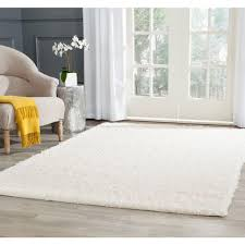 White Modern Rug by Nuloom Shanna Shag White 9 Ft 2 In X 12 Ft Area Rug Ozez04a