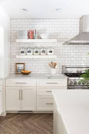 White On White Kitchen Designs Best 25 Floating Shelves Kitchen Ideas On Pinterest Open