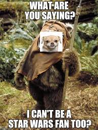 Ewok Memes - puppy star wars fan imgflip