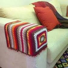 Crochet Armchair Covers Granny Armrest Granny Squares Squares And Crochet