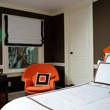 dark brown walls with white bedroom chair rail ideas decorative