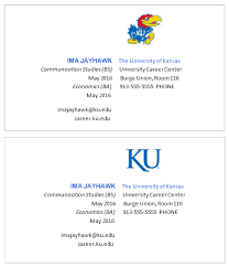 student business cards career center