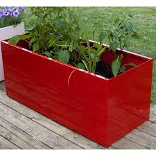 Metal Planter Box by Nice Planter Corten Steel Trough Hayneedle