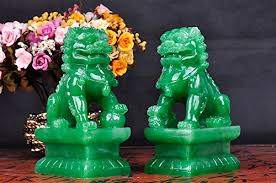 jade lion statue wealth porsperity pair of fu foo dogs guardian lion statues free