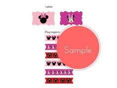 free royal purple dotted pattern minnie mouse scalloped cupcake