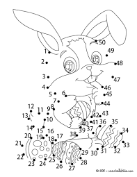 easter bunny dot to dot game coloring pages hellokids com