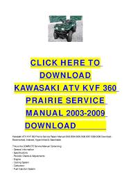 28 2005 kawasaki prairie 360 repair manual 1374 kawasaki