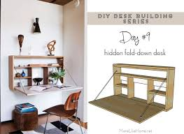 Diy Wall Desk More Like Home Diy Desk Series 9 Fold Wall Desk