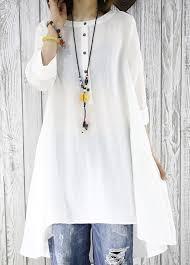 white flowy blouse asymmetrical white top half sleeve white flowy sundress