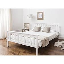 Double Bed Frame Prices Double Bed In White 4 U00276 Double Bed Wooden Frame White Dorset