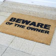 buy artsy doormats beware of the owner door mat amara