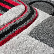 picture 21 of 50 red shag area rug elegant grey and red area