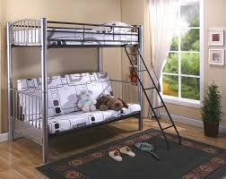 Bunk Bed With Futon On Bottom Grey Colored Metal Futon Bunk Bed Surripui Net