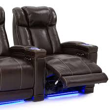 home theater leather chairs seatcraft sierra leather power recline power headrest home