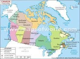 canada states map the political map of canada major tourist attractions maps