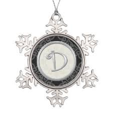 silver initial ornaments keepsake ornaments zazzle