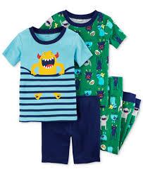 s 4 pc print cotton pajama set baby boys pajamas