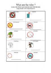 worksheet modal verbs must mustn t