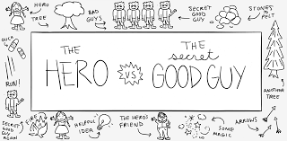 the hero vs the secret good guy or how to chase your hero up a