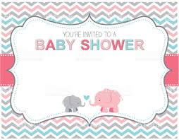baby shower invitations girl elephant baby shower invitation stock vector more images of