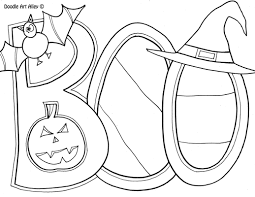 Halloween Pumpkin Coloring Page Halloween Coloring Pages Doodle Art Alley