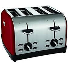 Dark Blue Toaster Amazon Com Cuisinart Cpt 180mr Metal Classic 4 Slice Toaster