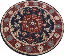 Red Round Rug Floral Round Traditional Persian Oriental Area Rugs Ebay