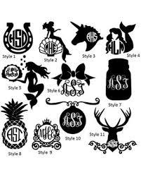 monogram decals don t miss this bargain monogram decals girlie vinyl monogram
