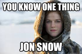 Jon Snow Memes - game of thrones top 5 memes focus on jon snow s sex life