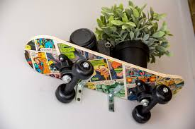 Diy Skateboard Shelf A Little Craft In Your Day